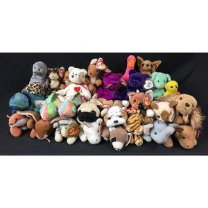 Lot of 29 Count TY Vintage Beanie Babies Must See